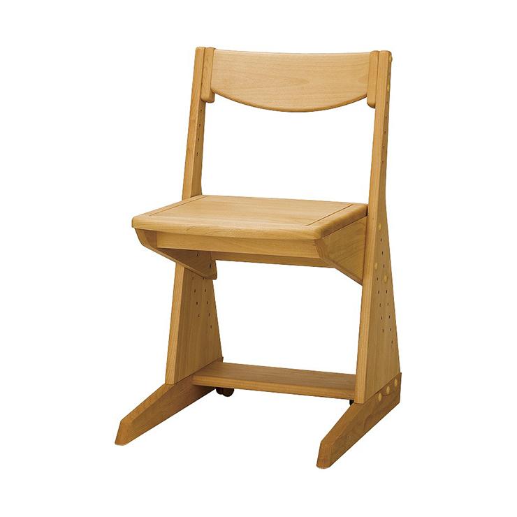 学習チェアー 椅子 いす デスクチェアー 勉強椅子 ナチュラル アルダー 国産品 日本製 堀田木工所 ポップ