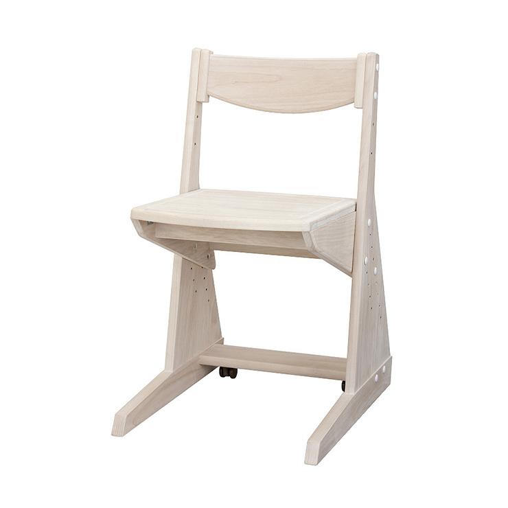 学習チェアー 椅子 いす デスクチェアー 勉強椅子 ホワイト 白 メープル 国産品 日本製 堀田木工所 ポップ