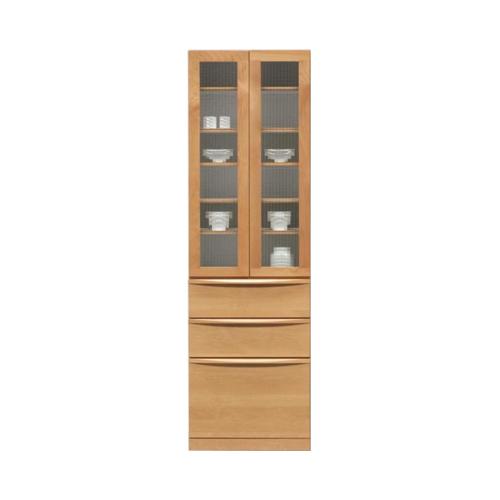 食器棚 完成品 幅60cm 高さ195cm 木製 アルダー 北欧風 ナチュラル 堀田木工所