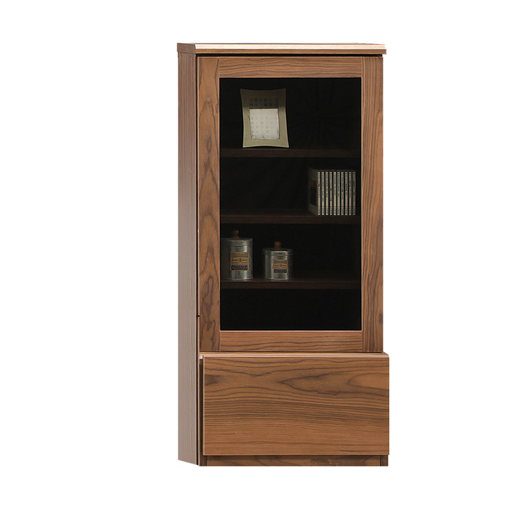 キャビネット 完成品 幅50cm ブラウン 木製 北欧風 リビング収納家具 サイドボード 飾り棚 飾棚 リビングボード 収納棚 リビングラック リビングシェルフ 収納ラック 食器棚 書棚 本棚
