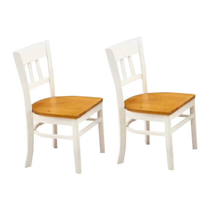 Stupendous Two Legged Dining Chair Set White White Brown Wooden Country Style Dining Room Chairs Dining Chair Dining Chairs Dining Room Chair Chair Chair Pabps2019 Chair Design Images Pabps2019Com