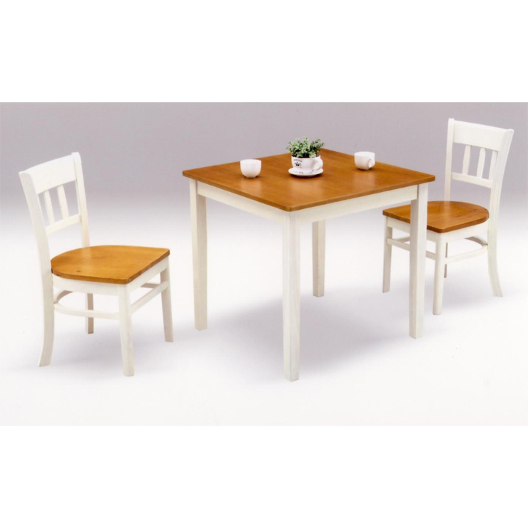 ダイニングテーブルセット 3点セット ホワイト 白 ブラウン 木製 カントリー風 ダイニングセット 2人掛け カフェテーブルセット 2人用ダイニングセット 食堂セット 食卓テーブルセット ダイニング3点セット 二人掛け 二人用