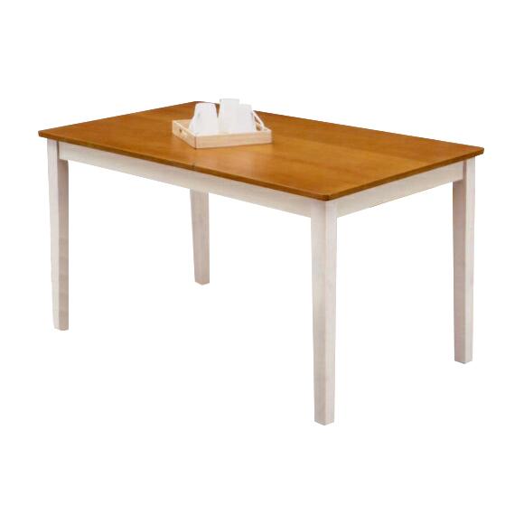 ダイニングテーブルのみ 幅120cm ホワイト 白 ブラウン 木製 カントリー風 4人用ダイニングテーブル 四人用ダイニングテーブル 4人掛けダイニングテーブル 食堂テーブル 食卓テーブル カフェテーブル