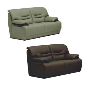 2人掛けソファー 幅150cm グリーン 緑 ブラウン 合皮製 モダン風 2人用ソファー 二人掛けソファー 二人用ソファー ラブソファー そふぁー ダブルソファー コンパクトソファー