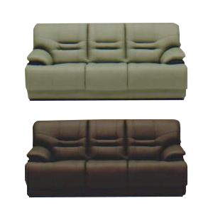 3人掛けソファー 幅180cm グリーン 緑 ブラウン 合皮製 モダン風 3人用ソファー 三人用ソファー 三人掛けソファー そふぁー ラブソファー