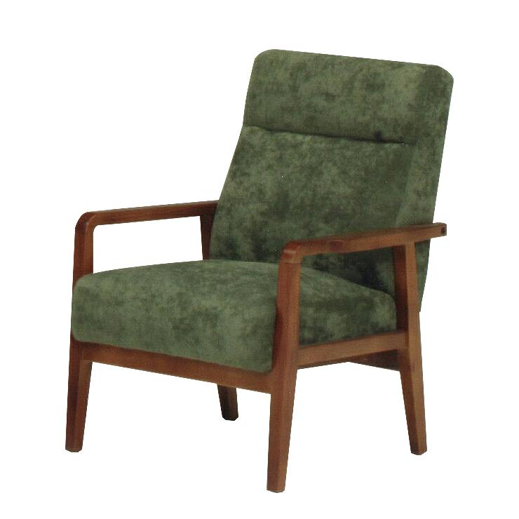 1人掛けソファー グリーン 緑 布張り製 レトロモダン風 1人用ソファー 一人掛けソファー 一人用ソファー そふぁー シングルソファー コンパクトソファー