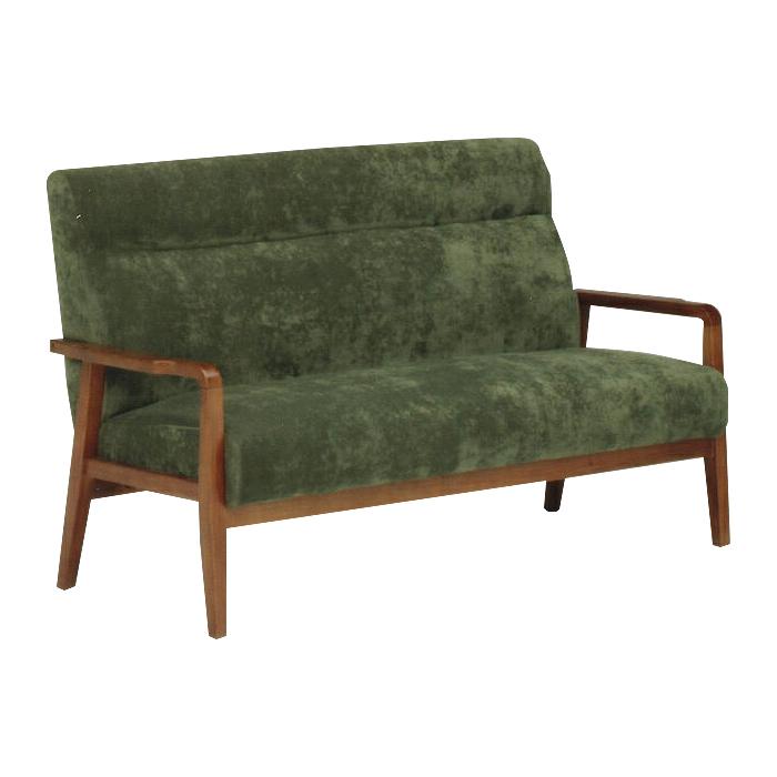 3人掛けソファー グリーン 緑 布張り製 レトロモダン風 3人用ソファー 三人用ソファー 三人掛けソファー そふぁー ラブソファー