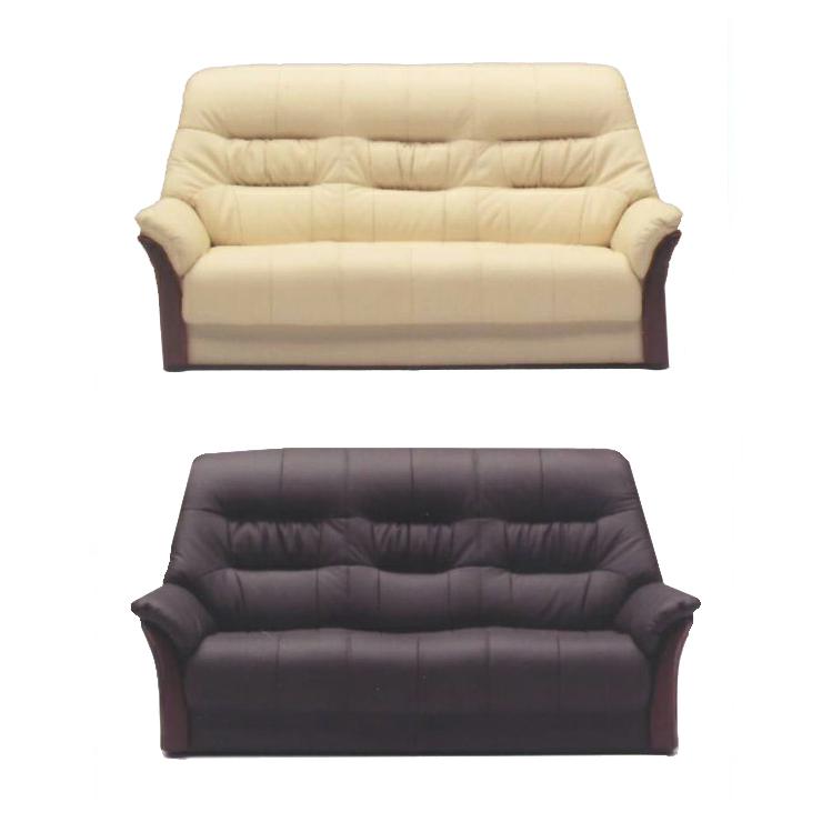 3人掛けソファー ブラウン アイボリー 白 革張り製 モダン風 3人用ソファー 三人用ソファー 三人掛けソファー そふぁー ラブソファー