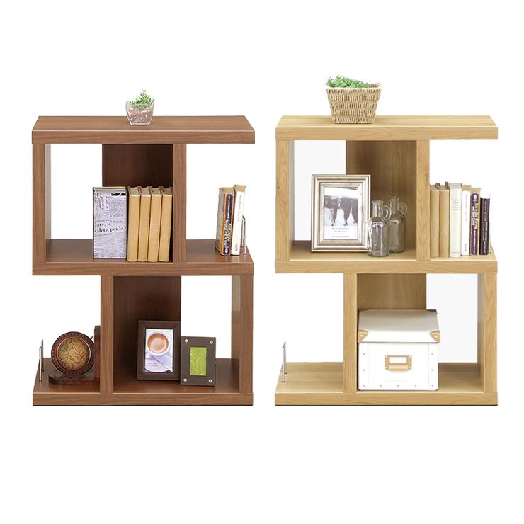 Rack Shelf Completed Width 60 Cm Brown Wood Modern Open Living Room Storage Furniture Ornament