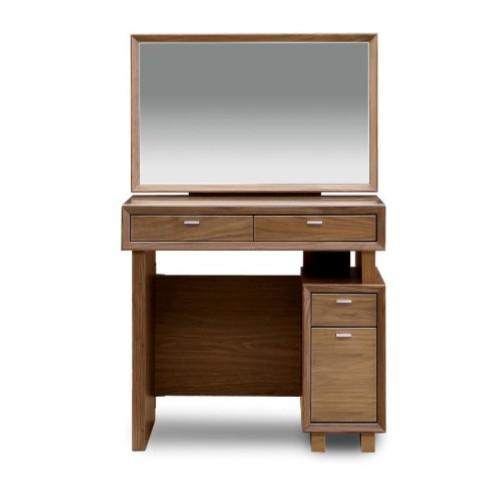 ドレッサー 鏡台 化粧台 どれっさー 木製 北欧風 ブラウン