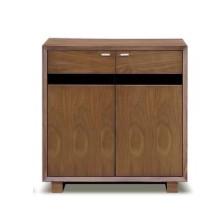 キャビネット 完成品 木製 北欧風 幅80cm ブラウン リビング収納家具 サイドボード 飾り棚 飾棚 リビングボード 収納棚 リビングラック シェルフ