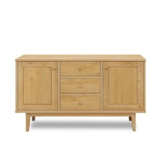 キャビネット 完成品 木製 北欧風 幅120cm ナチュラル リビング収納家具 サイドボード 飾り棚 飾棚 リビングボード 収納棚 リビングラック シェルフ