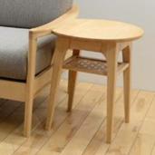 サイドテーブル 幅44cm ナチュラル 木製 北欧風 コーナーテーブル ベッドサイドテーブル ソファーサイドテーブル コーヒーテーブル カフェテーブル てーぶる