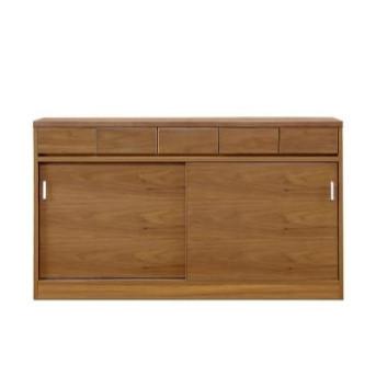 キッチンカウンター 完成品 約幅150cm 150cm幅 150幅  木製 モダン ブラウン キッチン収納 食器棚 食器収納 ダイニングボード キッチンボード キッチンキャビネット 水屋