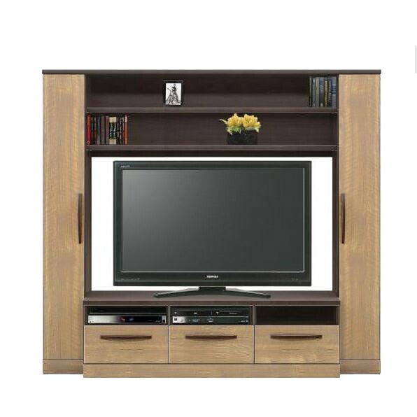 テレビ台 ハイタイプ 約幅200cm 収納付き ロータイプテレビボード TVボード てれび台 TV台 リビングボード AV収納 ブラウン ナチュラル