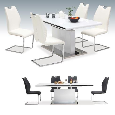 ダイニングテーブルセット ダイニングセット 5点セット 4人掛け 4人用 食堂セット 食卓テーブルセット ダイニング5点セット・カフェテーブルセット 四人掛け 四人用 モダン ホワイト 白