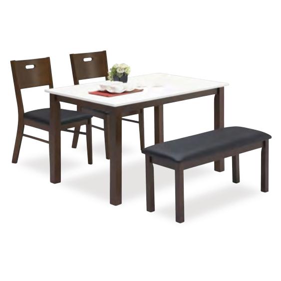 ダイニングテーブルセット ダイニングセット ベンチタイプ 4点セット 4人掛け 4人用ダイニングセット 食堂セット 食卓テーブルセット ダイニング4点セット カフェテーブルセット 四人掛け 四人用 ベンチ付き 木製 北欧モダン ブラウン ホワイト 白