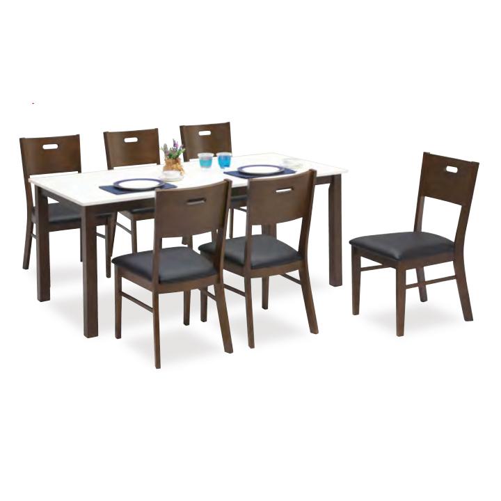 ダイニングテーブルセット ダイニングセット 7点セット 6人掛け 6人用 食堂セット 食卓テーブルセット ダイニング7点セット カフェテーブルセット 六人掛け 六人用 木製 北欧風 ブラウン ホワイト 白