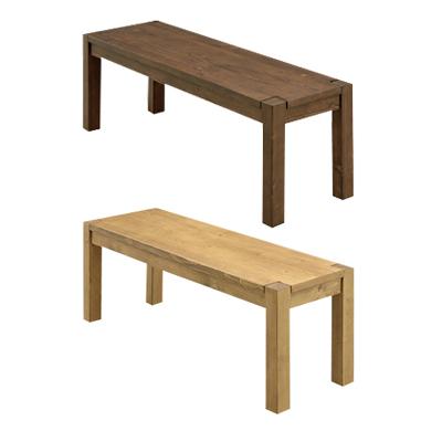 ダイニングベンチ 約幅125cm ダークブラウン ライトブラウン 木製 和風 ベンチチェアー ベンチタイプチェアー 2人用 2人掛け 二人用 二人掛け イス 椅子 イス 長椅子 スツール