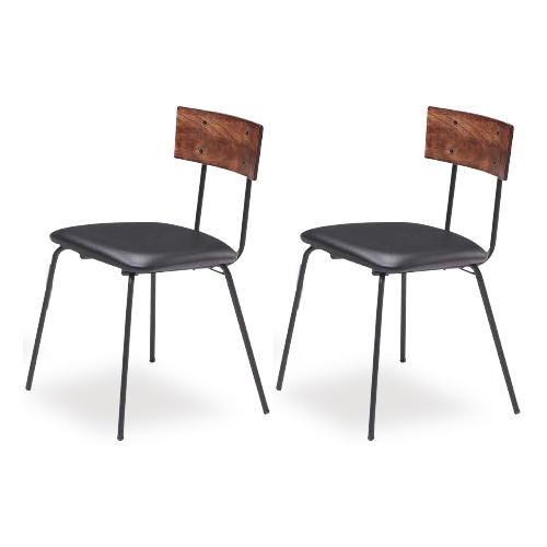 ダイニングチェアー 2脚セット 幅48cm 食堂椅子 食堂イス 食卓チェアー 食堂チェアー カウンターチェアー いす カフェチェアー ミッドセンチュリー風 ブラウン