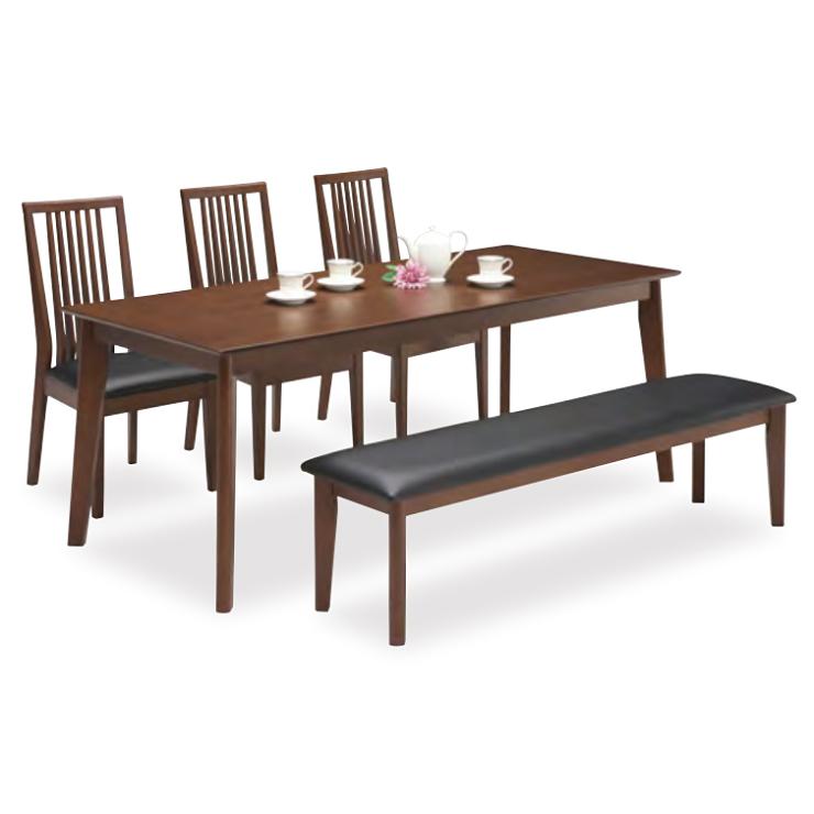 ダイニングテーブルセット ダイニングセット 5点セット 6人掛け 6人用 食堂セット 食卓テーブルセット ダイニング5点セット・カフェテーブルセット 六人掛け 六人用 木製 北欧モダン風 ブラウン