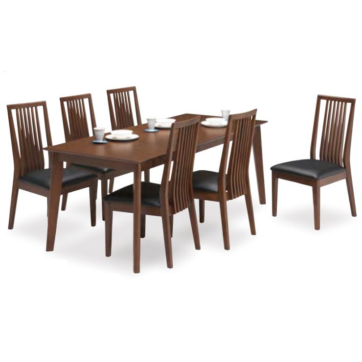 ダイニングテーブルセット ダイニングセット 7点セット 6人掛け 6人用 食堂セット 食卓テーブルセット ダイニング7点セット・カフェテーブルセット 六人掛け 六人用 木製 北欧モダン風 ブラウン