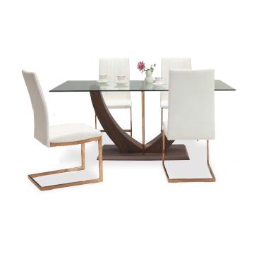 ダイニングテーブルセット ダイニングセット 5点セット 4人掛け 4人用 食堂セット 食卓テーブルセット ダイニング5点セット・カフェテーブルセット 四人掛け 四人用 モダン ホワイト 白 ブラック 黒