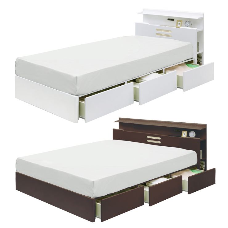 Is Dark Brown Wood Modern Style With Drawer White Single Bed Frame Only