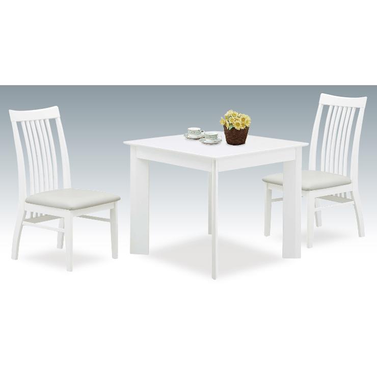 ダイニングテーブルセット ダイニングセット 3点セット 2人掛け カフェテーブルセット 2人用 食堂セット 食卓テーブルセット ダイニング3点セット 二人掛け 二人用 木製 北欧モダン風 ホワイト 白