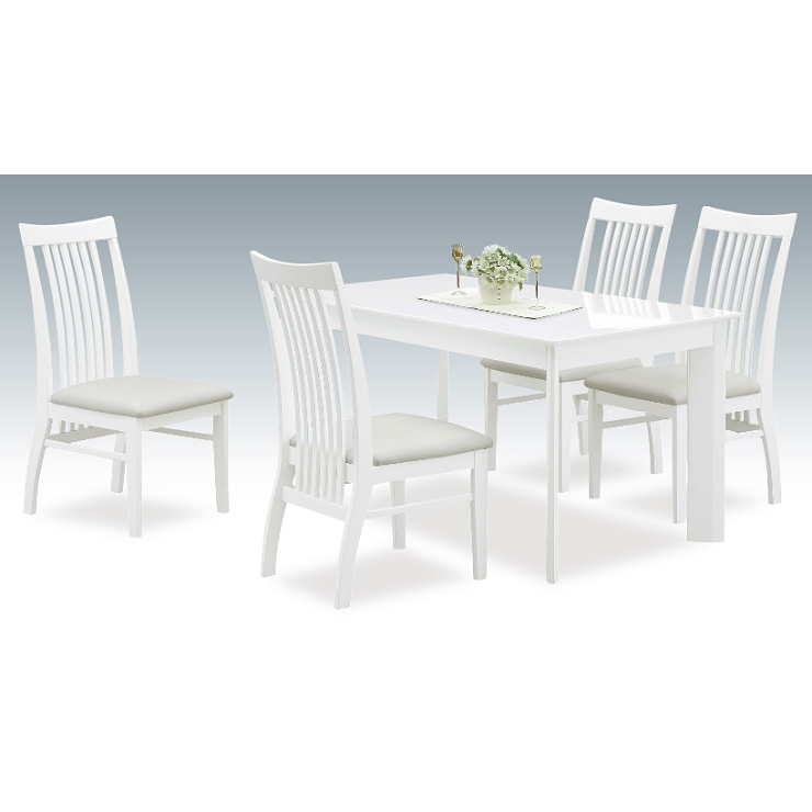 ダイニングテーブルセット ダイニングセット 5点セット 4人掛け 4人用 食堂セット 食卓テーブルセット ダイニング5点セット カフェテーブルセット 四人掛け 四人用 北欧モダン ホワイト 白