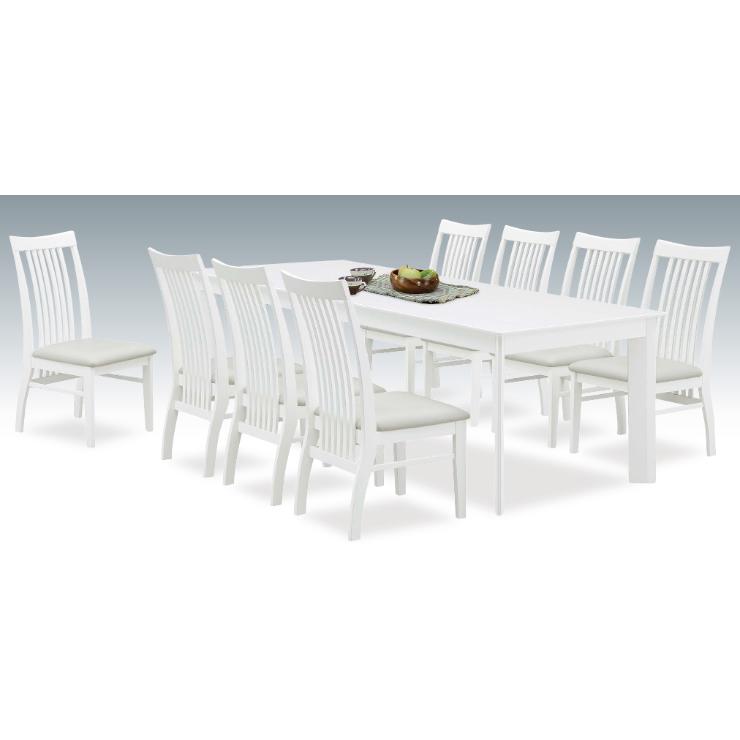 ダイニングテーブルセット ダイニングセット 9点セット 8人掛け 8人用 食堂セット 食卓テーブルセット ダイニング9点セット カフェテーブルセット 八人掛け 八人用 木製 北欧モダン風 ホワイト 白