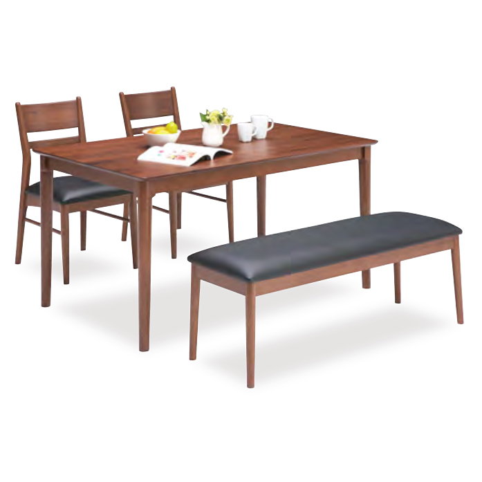 ダイニングテーブルセット ダイニングセット ベンチタイプ 4点セット 4人掛け 4人用ダイニングセット 食堂セット 食卓テーブルセット ダイニング4点セット カフェテーブルセット 四人掛け 四人用 ベンチ付き 木製 北欧モダン ブラウン