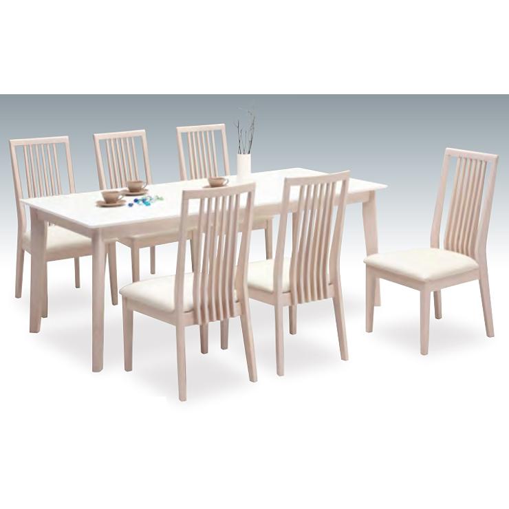 ダイニングテーブルセット ダイニングセット 7点セット 6人掛け 6人用 食堂セット 食卓テーブルセット ダイニング7点セット・カフェテーブルセット 六人掛け 六人用 木製 北欧モダン風