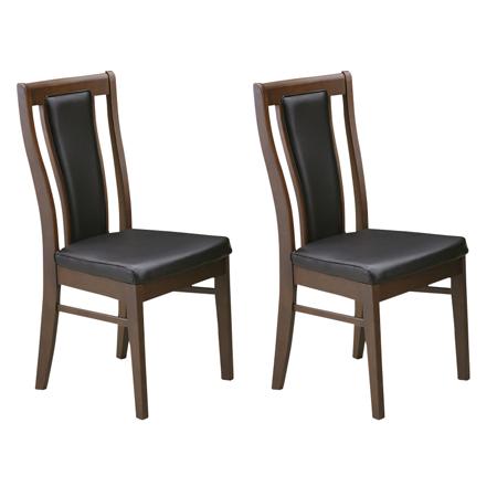 ダイニングチェアー 2脚セット ブラウン 木製 モダン風 食堂椅子 食堂イス 食卓チェアー 食堂チェアー カウンターチェアー いす カフェチェアー