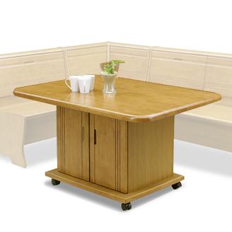 ダイニングテーブル 幅130cm 木製 カントリー風