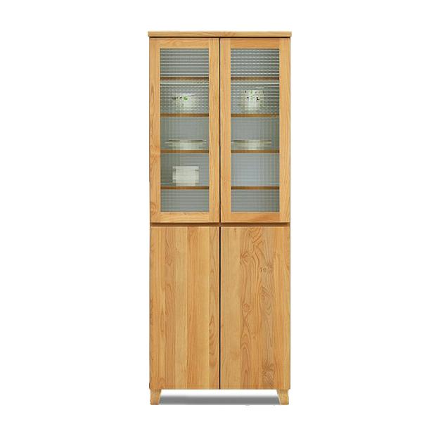 食器棚 完成品 幅70cm 北欧風 ナチュラル 木製 ダイニングボード キッチンボード 食器収納家具 キッチン収納棚 キッチンキャビネット 水屋 カップボード 食器収納棚
