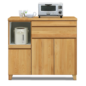 キッチンカウンター 完成品 幅100cm 北欧風 ナチュラル 木製 キッチン収納 食器棚 食器収納 ダイニングボード キッチンボード キッチンキャビネット 水屋