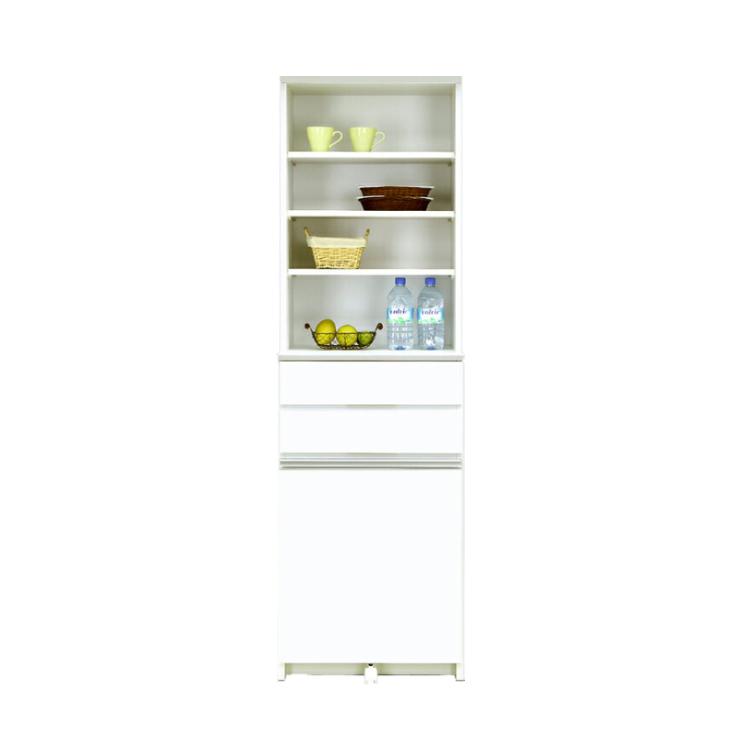ダストボックス ダストカウンター キッチンカウンター 約幅55cm ホワイト 白 木製 モダン  国産品 日本製