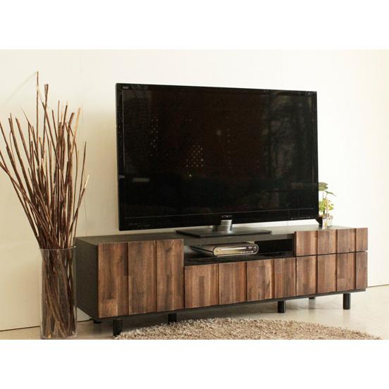 テレビ台 ローボード 完成品 幅145cm ブラウン 木製 アジアン風 ロータイプテレビボード TVボード てれび台 TV台 テレビラック リビングボード AVラック AV収納 AVボード