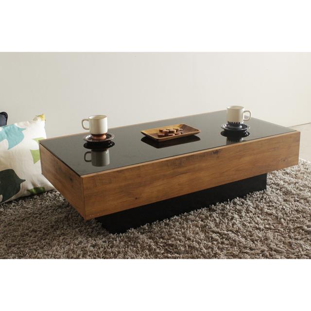 センターテーブル 幅105cm ガラス天板 引き出し付き ローテーブル リビングテーブル コーヒーテーブル てーぶる 木製 北欧風
