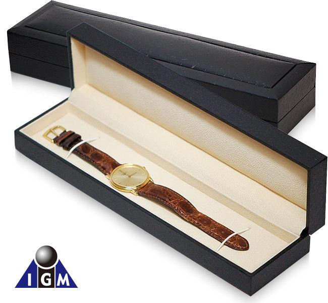 IGIMI 革バンド時計1本用ボックス 黒クロコ模様 革バンド時計の保管に便利! 革バンド時計1本用ボックス 48点セット【ig-zero34-1】【-48】