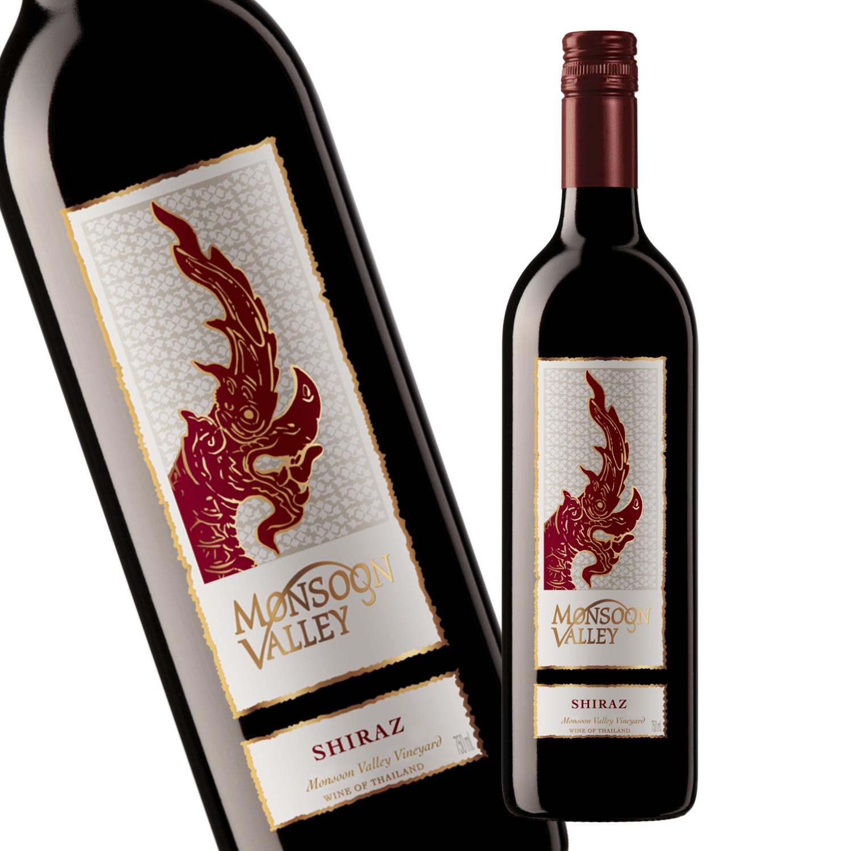 新緯度帯タイワイン プレミアムレンジ シラー種100% 新緯度帯ワイン 即納最大半額 モンスーンバレー シラー 赤ワイン 奉呈 750ml×2本入 辛口 タイ お試し2本セット