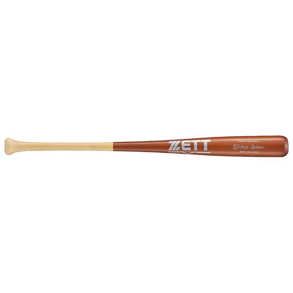 送料無料 野球 バット 84cm 900g ナチュラル×薄ダーク 硬式木製 BWT17584 エクセレントバランス セール特価 プロフェッショナル 打撃部メイプル ゼット 結婚祝い 合竹