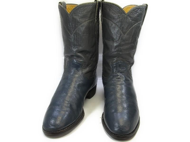 【中古】【送料無料】Justin (ジャスティン)9 C / (25.5cm~26.0cm) アメリカ製・ペコスブーツメンズシューズ 紳士 靴 ビジネス カジュアル メンテナンス済