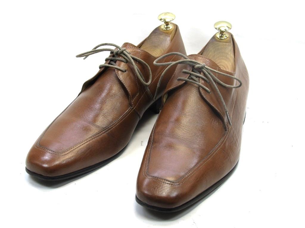 【中古】【送料無料】Ie saunda40 / (25.0cm~25.5cm) プレーントゥメンズシューズ 紳士 靴 ビジネス カジュアル メンテナンス済