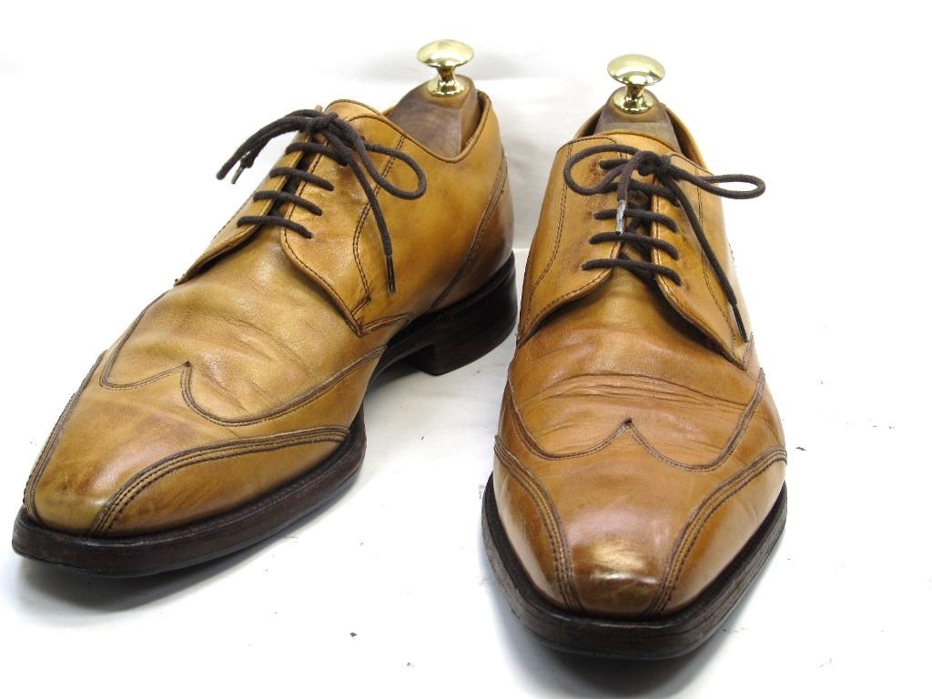 【中古】【送料無料】CHENEY (チーニー)7.5 / (25.5cm~26.0cm) イギリス製・スワールシューズメンズシューズ 紳士 靴 ビジネス カジュアル メンテナンス済
