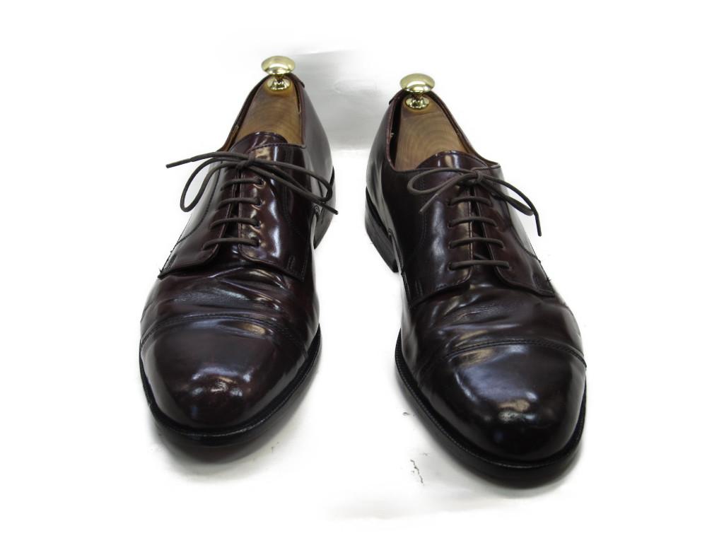 【中古】【送料無料】-10 D / (26.5cm~27.0cm) ストレートチップメンズシューズ 紳士 靴 ビジネス カジュアル メンテナンス済