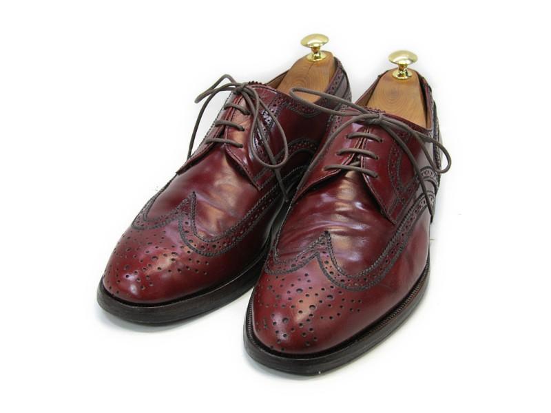 【中古】【送料無料】DANIELE (ダニエル)43 (27.5cm~28.0cm) イタリア製・ウイングチップメンズシューズ 紳士 靴 ビジネス カジュアル メンテナンス済