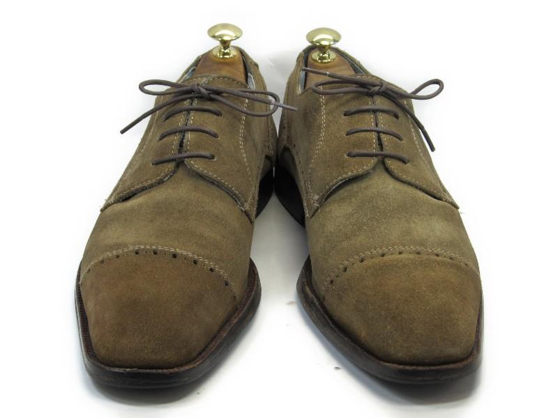 ECHT LEDER 41 (26.0cm 26.5cm) suede straight tip men shoes gentleman shoes business casual maintenance finished