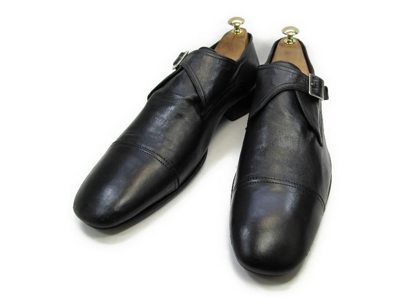 【中古】【送料無料】n.d.c. made by hand44 D / (28.5cm~29.0cm) モンクストラップメンズシューズ 紳士 靴 ビジネス カジュアル メンテナンス済